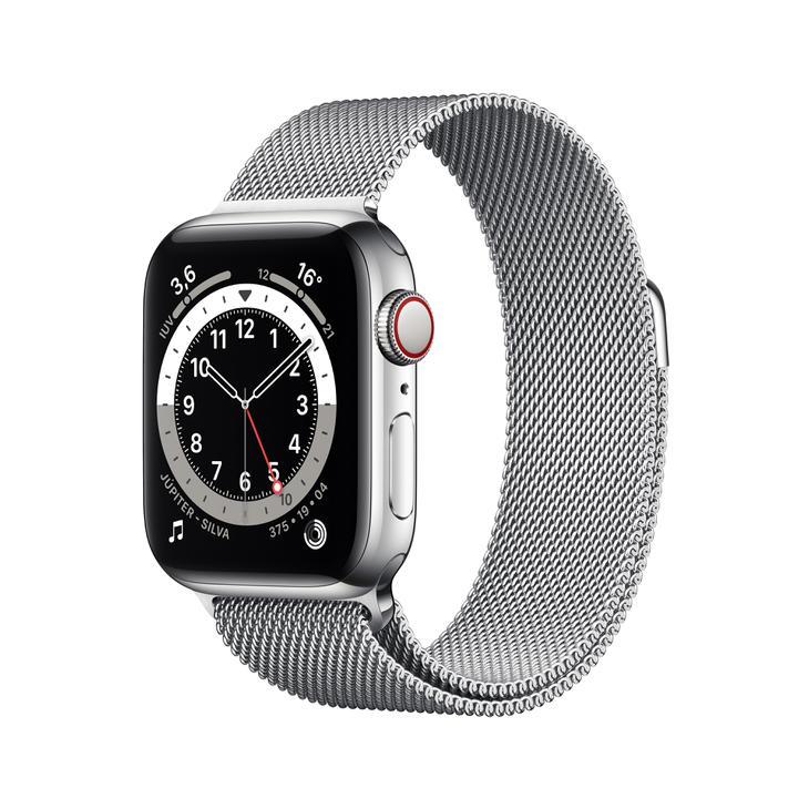 Smartwatch Apple Watch Series 6 40mm - Milanês Prata