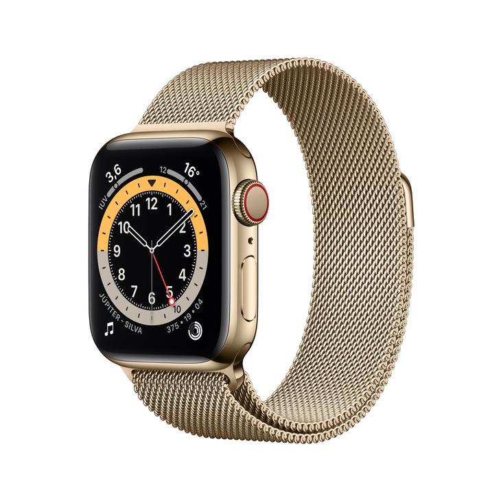 Smartwatch Apple Watch Series 6 40mm - Milanês Dourado
