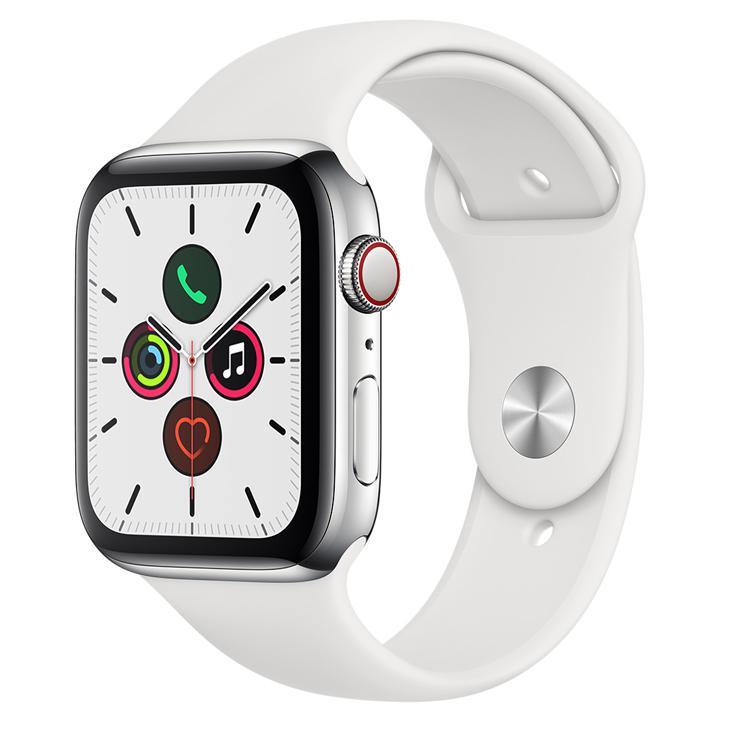 Smartwatch Apple Watch Series 5 44mm - Branco/prata