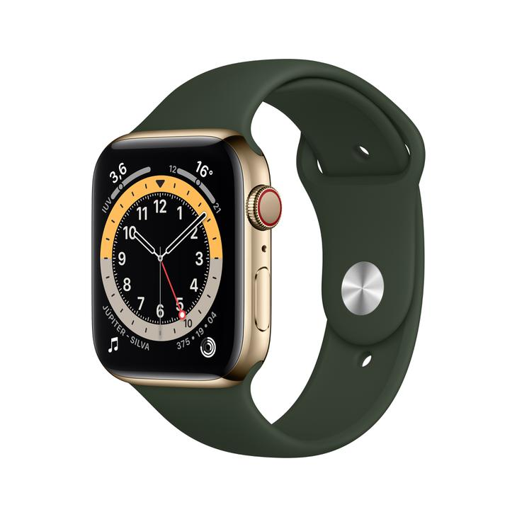 Smartwatch Apple Watch Series 6 44mm - Dourado/verde